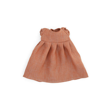 Clay Linen Dress for Dolls