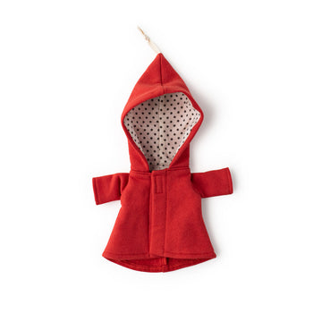 Cranberry Red Elf Jacket for Dolls