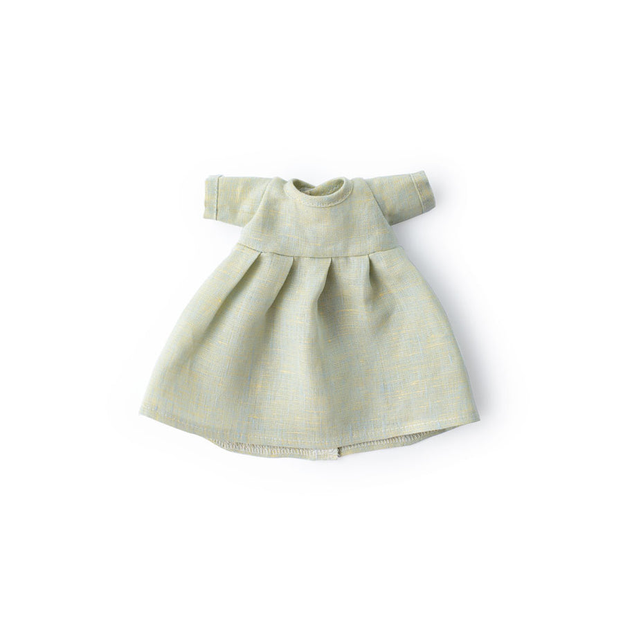 Dewdrop Linen Dress for Dolls