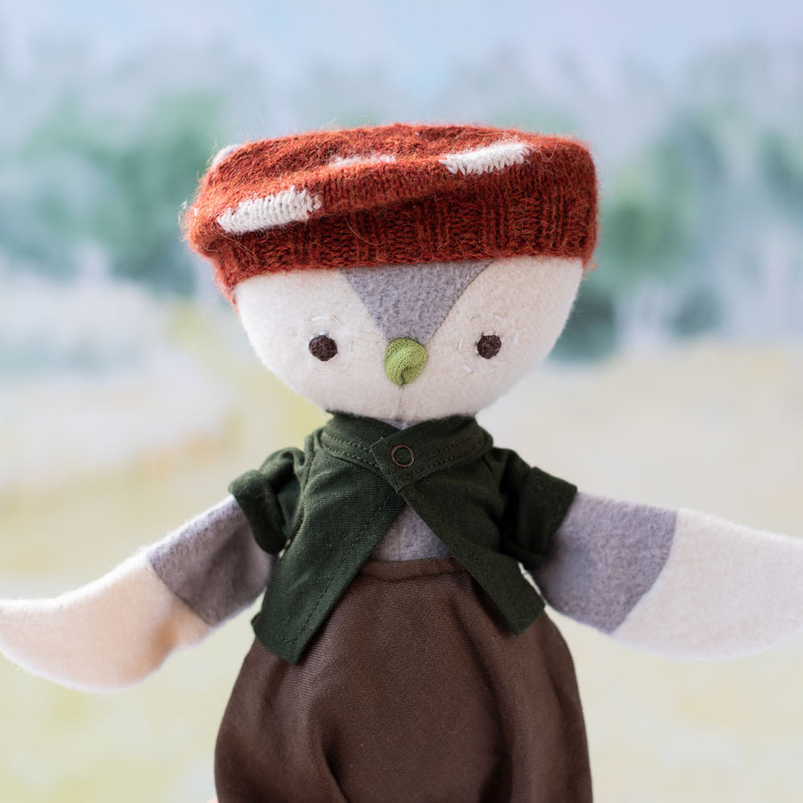 Mushroom Beret Hat for Dolls