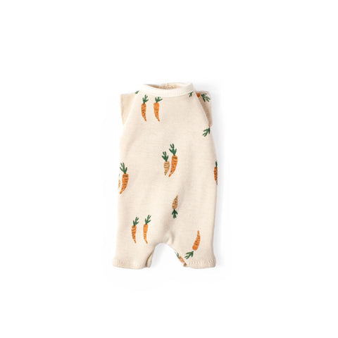Fin + Vince Carrot Print Romper for Dolls
