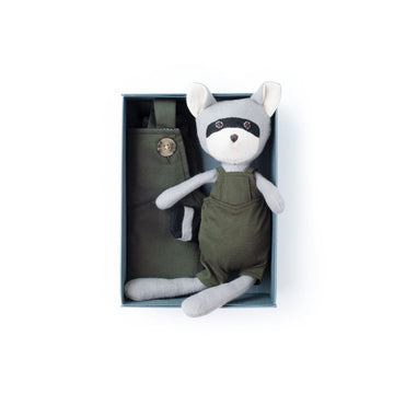 River Green Overalls Set - Max Raccoon