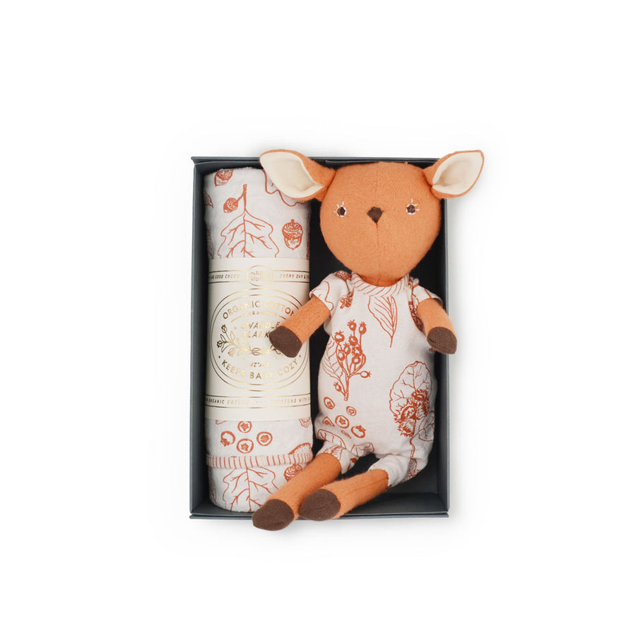 Nuts & Berries Swaddle Set - Phoebe Fawn