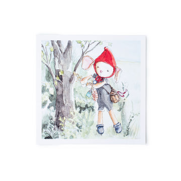 Annicke Mouse Hazel Village Art Print