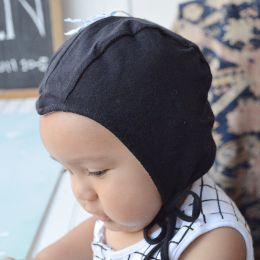 Black Bonnet for Kids