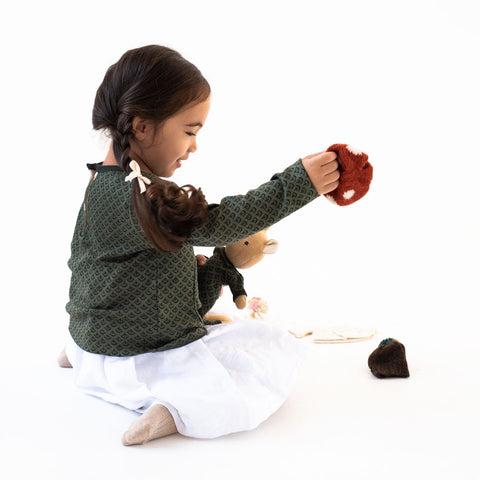 Leaf Cover Pocket Shirt for Kids