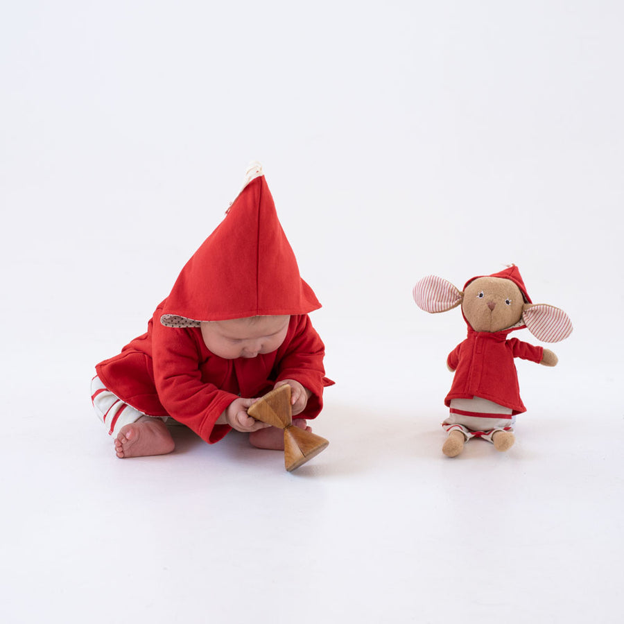 Cranberry Red Elf Jacket for Kids and Dolls