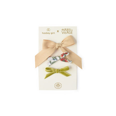"HV x Hadley Girl Dolly Bow 3-pack in ""Meadow"""