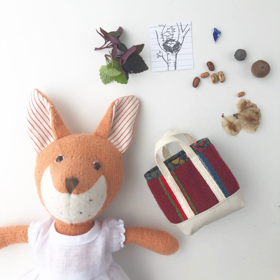 Flora Fox with Scavenger Tote Bag