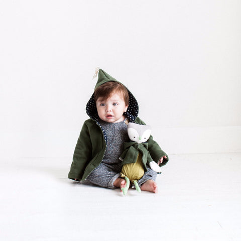 Hazel Village Dress Up Doll Clothes and Matching Children's Clothes set Organic Handmade Stuffed Animal Elf Jacket Bundle