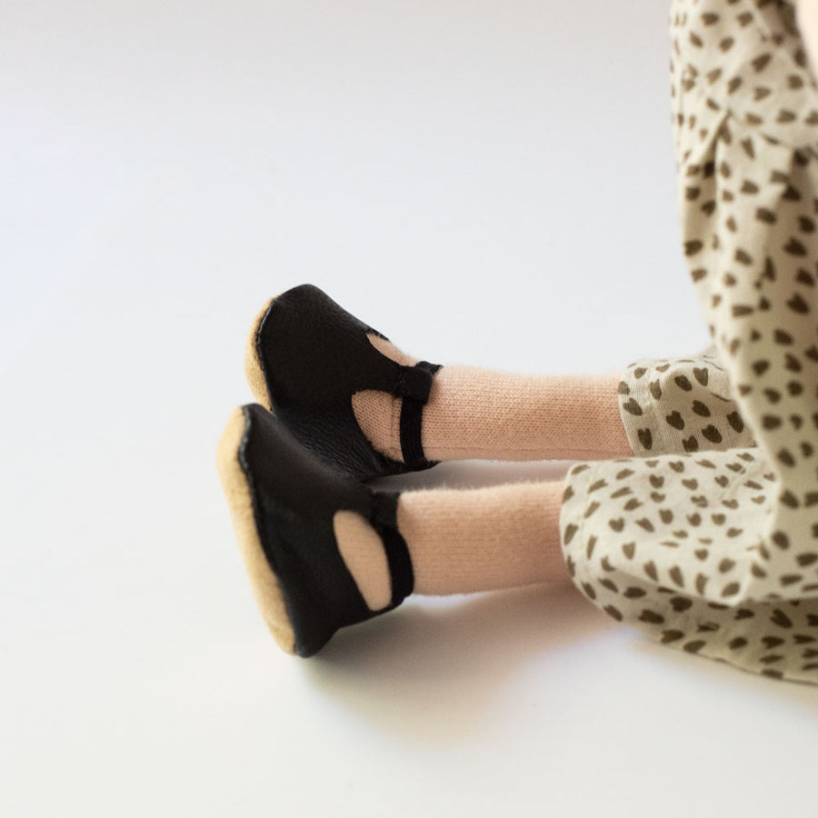HV x Mon Petit Shoes for Dolls black t-strap