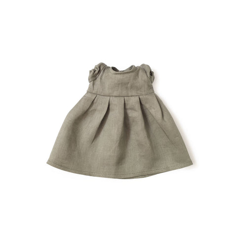 HV X Wildbird Grey Puff Slv Linen Dress