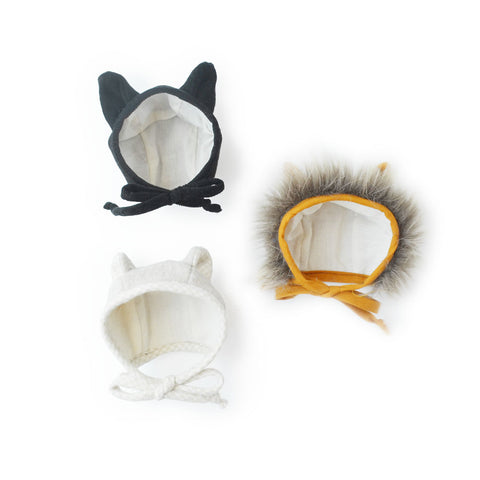 Briar animal bonnets for dolls