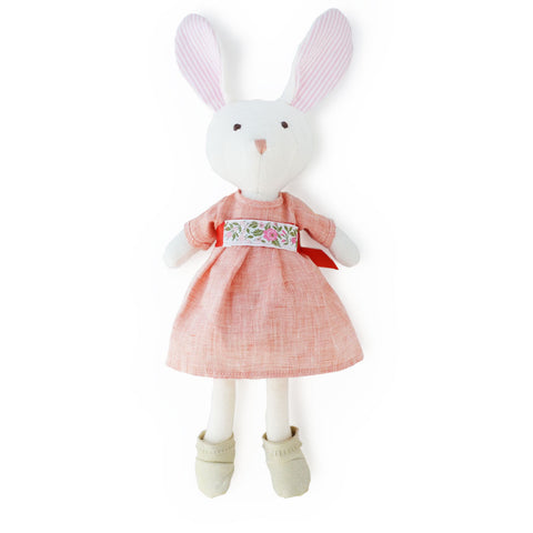 Hazel Village Handmade Organic Cotton Stuffed Animal Emma Rabbit Doll