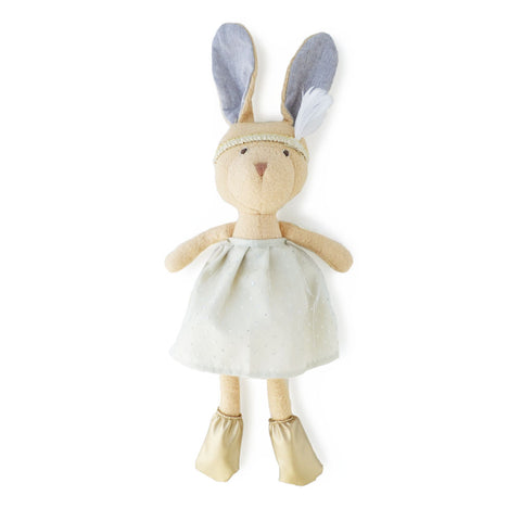 Hazel Village Handmade Organic Cotton Stuffed Animal Juliette Rabbit Doll