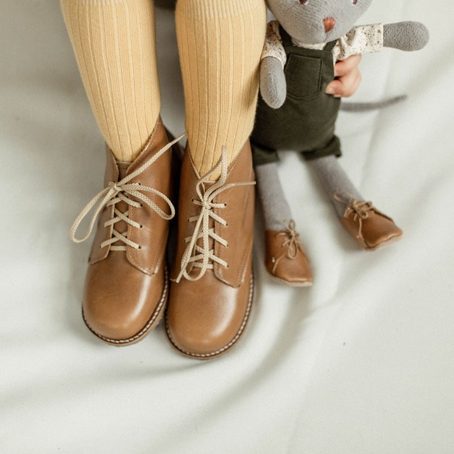 HV x Zimmerman Shoes Milo Boot for Dolls in Brown