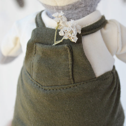 Forest Green Overalls for Dolls