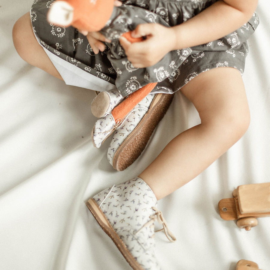 HV x Zimmerman Shoes Milo Boot for Dolls in Brook Lobelia
