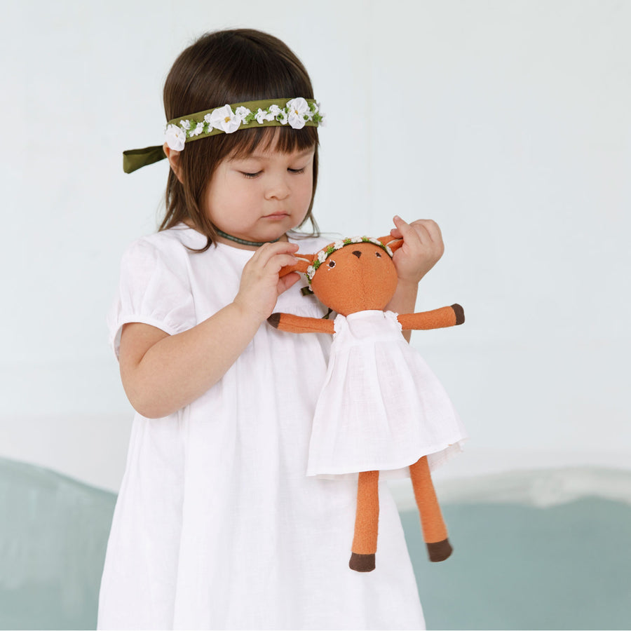White Linen Dress Set - Phoebe Fawn