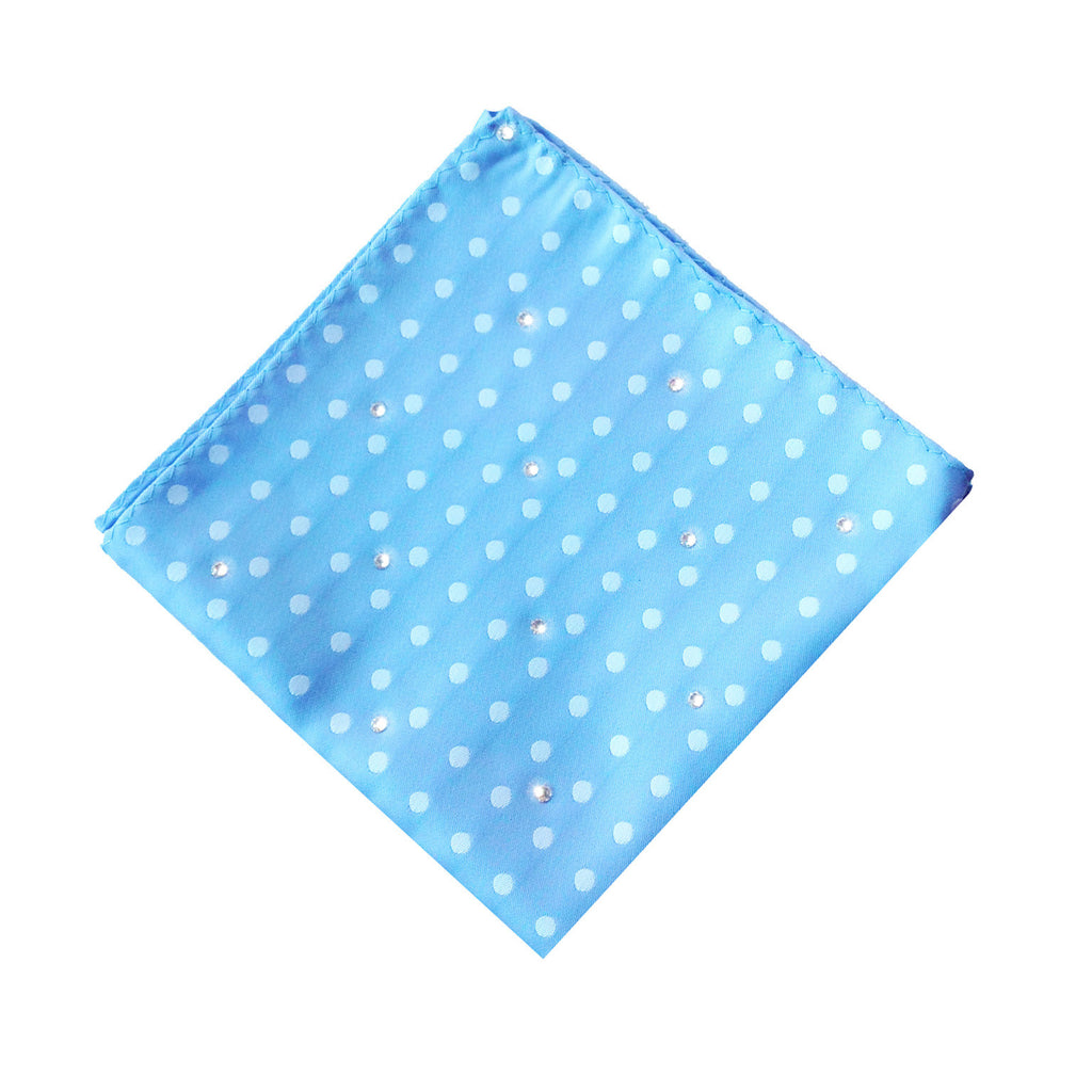 Blue Spotted Pocket Square