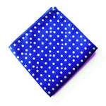 Electric Blue Spotted Pocket Square