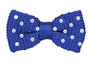 Electric Blue Swarovski Knitted Bow
