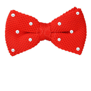 Scarlet Red Swraovski Knitted Bow