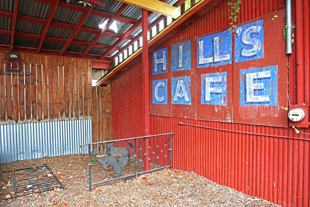 Backyard at Hill's Cafe