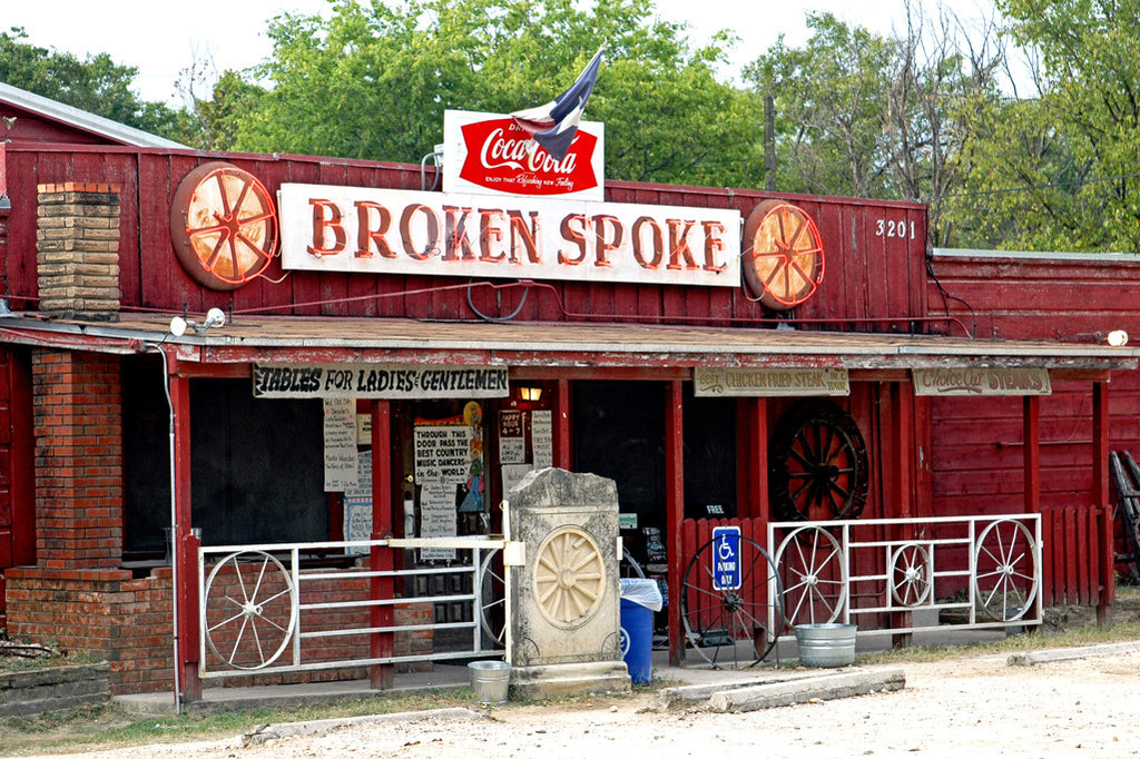 """Broken Spoke"" ~ Front of the Broken Spoke honky tonk dance hall in Austin, TX."