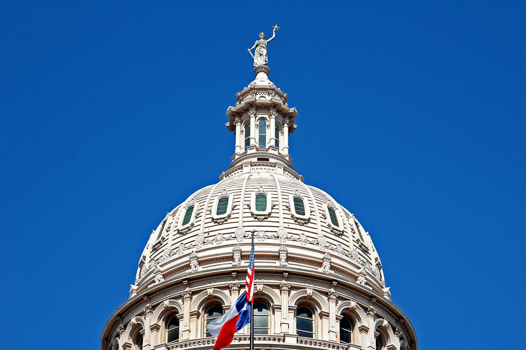 """Capitol Dome"" ~ The dome of the Texas capitol building in Austin, TX."