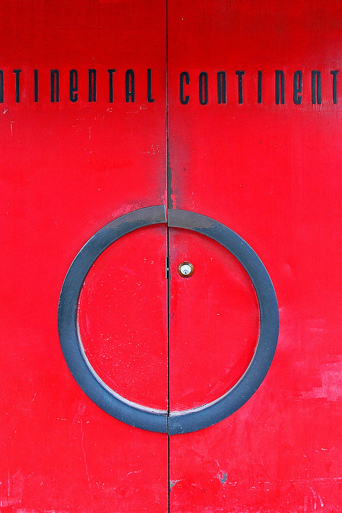 """Continental Club Doors"" ~ The red front doors of the Continental Club in Austin, TX."