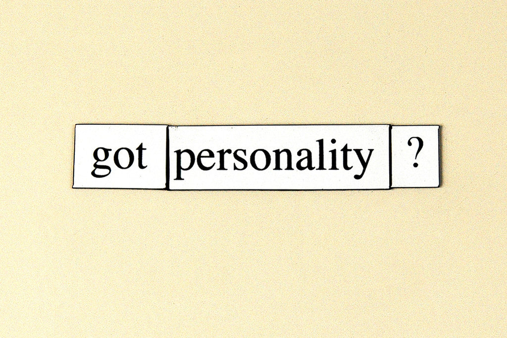 """Got Personality?"" ~ Words from my fridge. Photo by Ann Woodall"