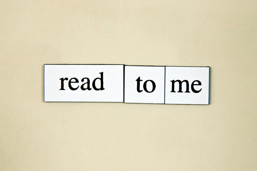 """Read To Me"" ~ Words from my fridge. Photo by Ann Woodall"