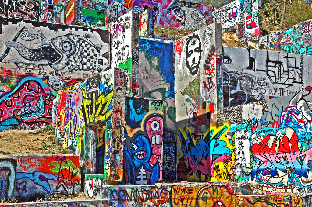 """Graffiti Park at Castle Hills"" ~ A graffiti park in Austin, TX. Photo by Ann Woodall"