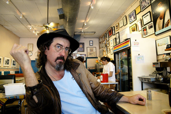 """James McMurtry at Las Manitas"" ~ Musician James McMurtry at the countrer of late local eatery Las Manitas in Austin, TX. Photo by Ann Woodall"