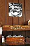 """Jo's Best Coffee"" ~ The sugar and cream area of Jo's Coffee in Austin, TX. Photo by Ann Woodall"