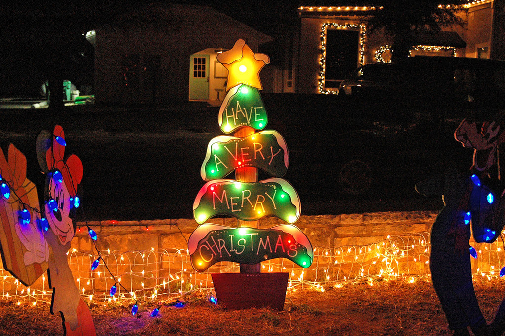 """Merry Christmas!"" ~ Christmas tree yard decoration. Photo by Ann Woodall"