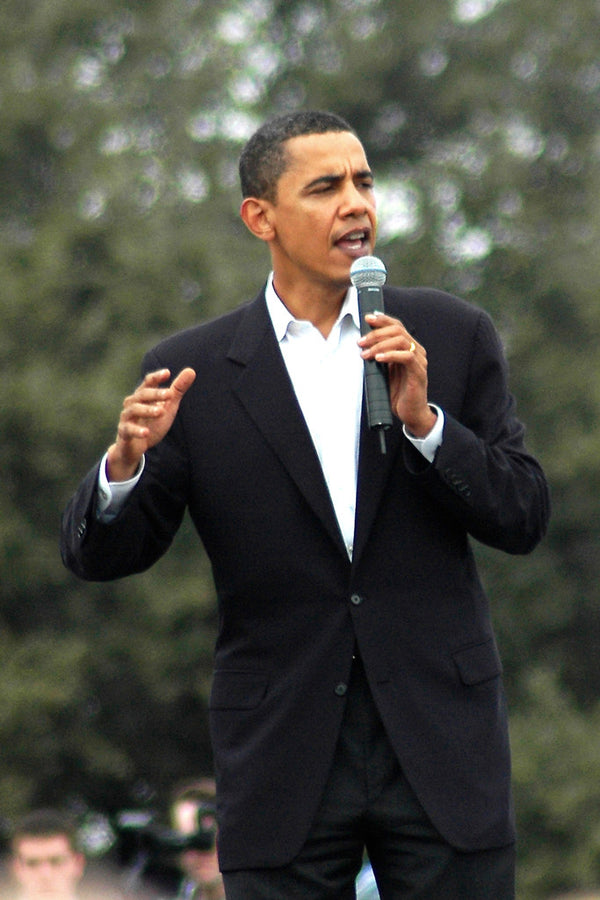 """Obama #9"" ~ Sen. Obama speaks to a huge crowd in Austin, TX. Photo by Ann Woodall"