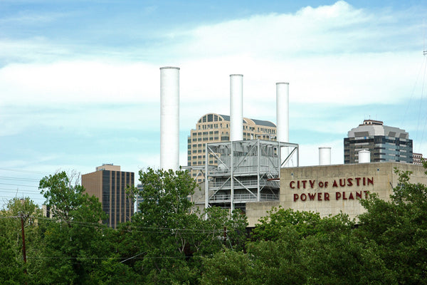 """Power Plant"" ~ The old Austin power plant building. Photo by Ann Woodall"