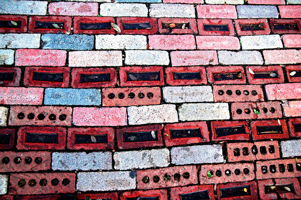 """Red Brick"" ~ A section of red brick sidewalk. Photo by Ann Woodall"