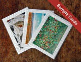 Image of sample handmade greeting cards from Ann Woodall Studios art in Austin, TX.