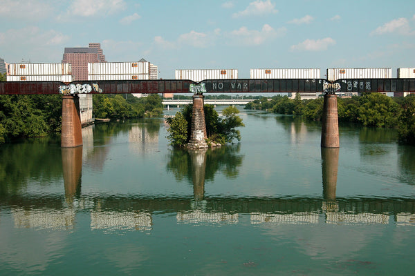 """Train Bridge"" ~ Train bridge over Lady Bird Lake in Austin, TX. Photo by Ann Woodall"