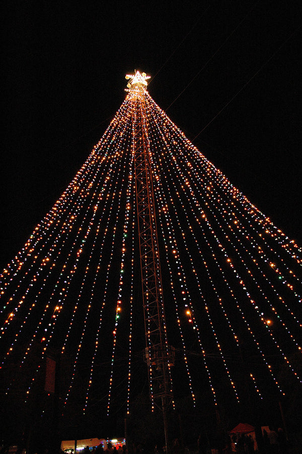 """Zilker Xmas Tree #1"" ~ The Zilker Park Christmas tree in Austin, TX. Photo by Ann Woodall"
