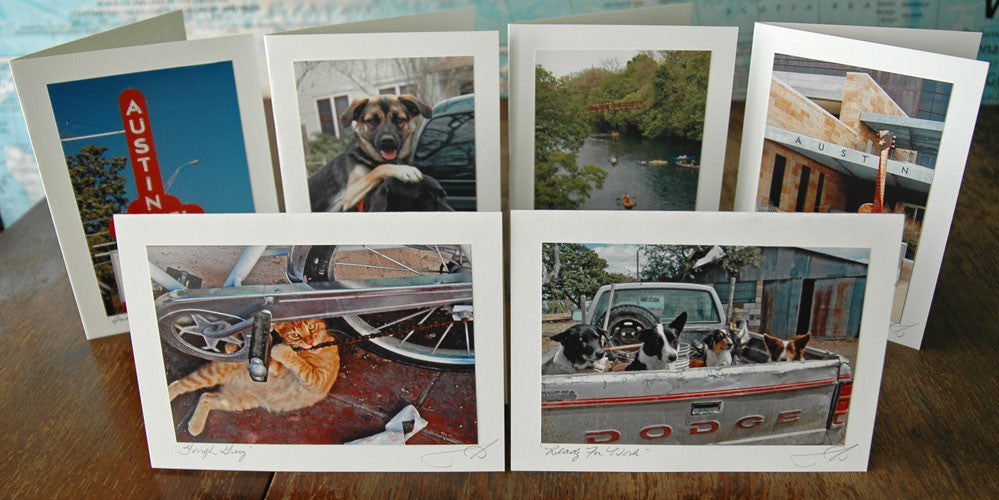 ann woodall studios, greeting cards, handmade, austin, texas, photo, art