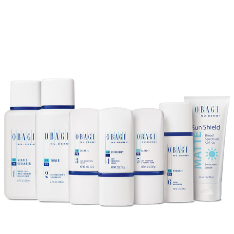 Obagi Nu-Derm Fx Starter System - Normal to Dry Skin(7 piece)