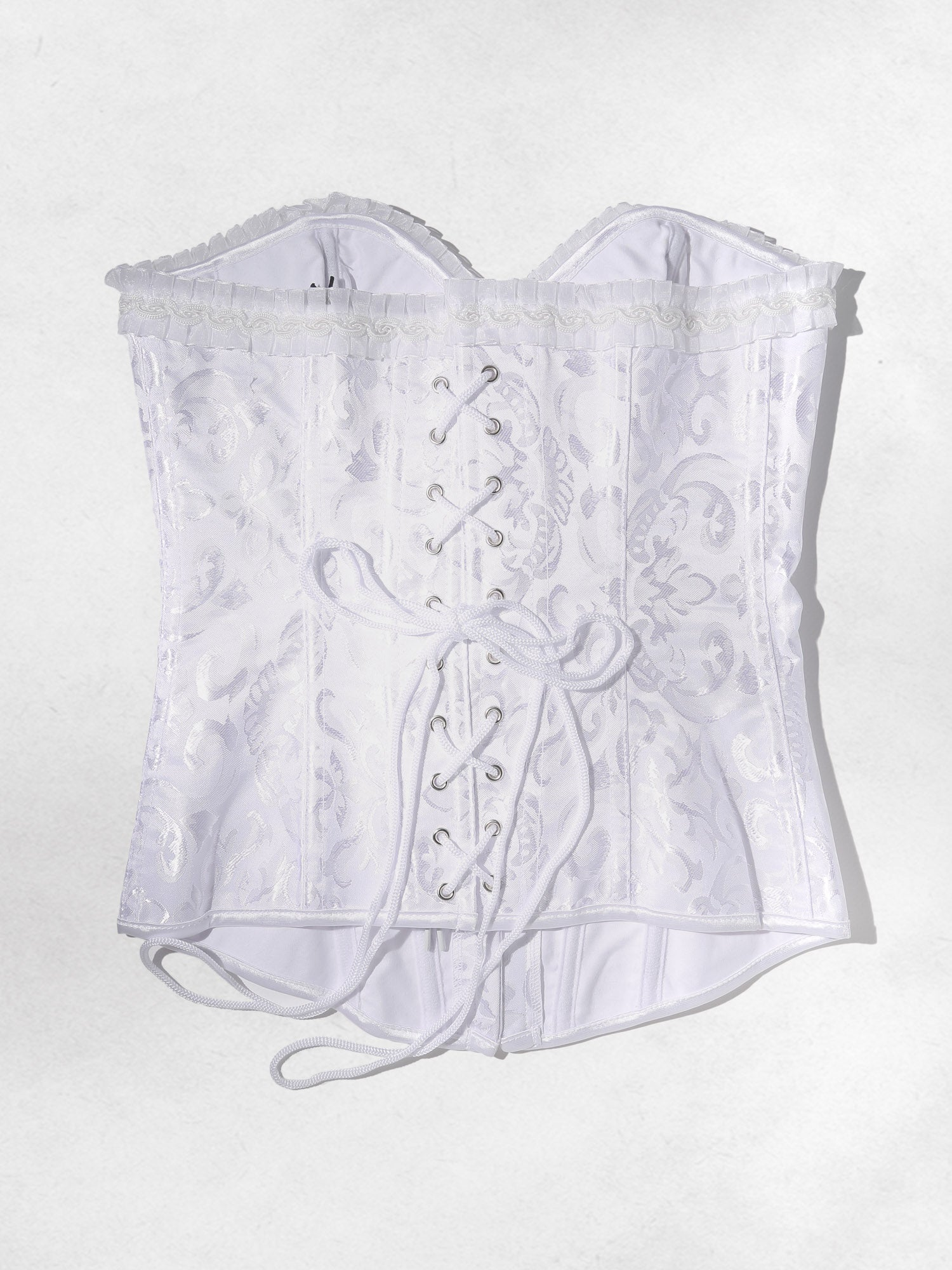 Clothing The Billie Corset Top - White Brocade Vanessa Mooney