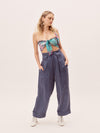 The Bardot Pants - Blue Stripe