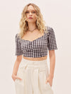 The Lisette Top - Black Gingham