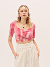 The Lisette Top - Red Gingham