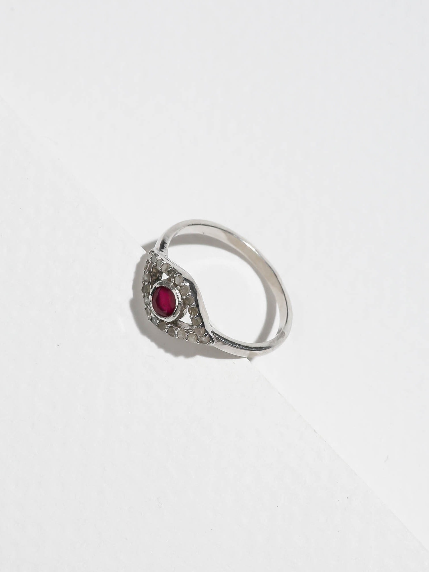Rings The Diamond Iris Ring - Ruby Vanessa Mooney